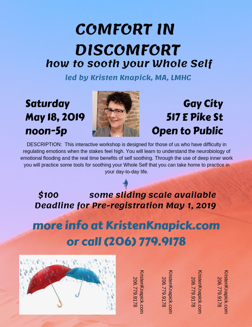 [Associated Event] Comfort in Discomfort: How to Sooth Your Whole Self @ Gay City